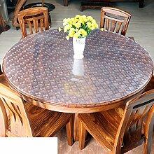 Pvc Weiches glas Runde tischdecke Dining