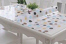 PVC-weiches Glas-Tabellen-Tuch wasserdichtes Anti-heißes Öl - freies Scrub Tisch-Matten-Kaffeetisch-Auflage-Tabellen-Tuch-Kristall-Platte ( farbe : A , größe : 80*135CM )