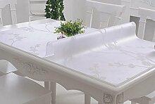 PVC-weiches Glas-Tabellen-Tuch wasserdichtes Anti-heißes Öl - freies Scrub Tisch-Matten-Kaffeetisch-Auflage-Tabellen-Tuch-Kristall-Platte ( farbe : C , größe : 100*100CM )