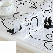 Pvc,weichglas tischdecke/wasserdicht,anti-ironing tisch matte/couchtisch schreibtisch matte/transparenter kristall blatt tischdecke-L 80x80cm(31x31inch)