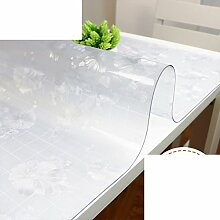 PVC,Weichglas,Wasserdicht,Tv-schrank Tischdecke/Schuhschachtel/Nachttisch/Transparente Tabelle Mat/Teetisch Matten/Tischplatte Aus Kristallplatte-D 50x240cm(20x94inch)
