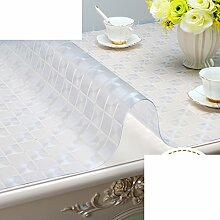 PVC,Weichglas,Wasserdicht,Tv-schrank Tischdecke/Schuhschachtel/Nachttisch/Transparente Tabelle Mat/Teetisch Matten/Tischplatte Aus Kristallplatte-E 50x140cm(20x55inch)
