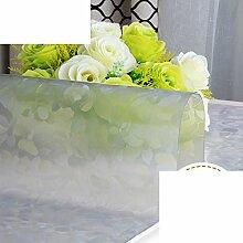 PVC,Weichglas,Wasserdicht,Tv-schrank Tischdecke/Schuhschachtel/Nachttisch/Transparente Tabelle Mat/Teetisch Matten/Tischplatte Aus Kristallplatte-F 50x200cm(20x79inch)