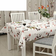 PVCGarten-Tischdecke/Einweg-Kunststoff-Folien für die Imprägnierung/Tischdecken/Tischdecke decke/Anti-hot Coffee Table Kissen/Matte-D 100x180cm(39x71inch)
