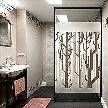 PVCOLL Fensterfolien 3D Glasfolie Wald