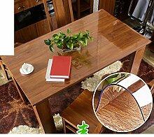 PVCTischdecken/Hei?e weich transparent wasserdicht Tischdecke/ Tisch-Couchtisch-Pad/Tischdecke decke/Tischdecken-B 80x120cm(31x47inch)