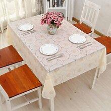 PVCTischdecken/ Wasser und Öl Beweis Einweg Tischdecken/ Ölbeweis Runde Tischdecke-F 138x220cm(54x87inch)