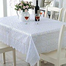 PVCwasserdichte Tapete/Hohlen Oilproof und wasserdichte Tischdecken/Tischdecke decke/ Jacquard Tischdecke/ Einweg-Tischdecke-J 138x180cm(54x71inch)