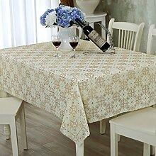 PVCwasserdichte Tapete/Hohlen Oilproof und wasserdichte Tischdecken/Tischdecke decke/ Jacquard Tischdecke/ Einweg-Tischdecke-Q 138x100cm(54x39inch)