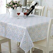 PVCwasserdichte Tapete/Hohlen Oilproof und wasserdichte Tischdecken/Tischdecke decke/ Jacquard Tischdecke/ Einweg-Tischdecke-I 138x190cm(54x75inch)