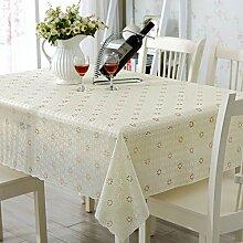 PVCwasserdichte Tapete/Hohlen Oilproof und wasserdichte Tischdecken/Tischdecke decke/ Jacquard Tischdecke/ Einweg-Tischdecke-E 138x220cm(54x87inch)