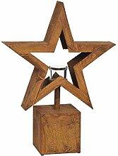PW Edelrost Säule Windlicht Stern klein 52,5 cm