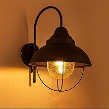 pwne Klassische industrielle Wind Wandleuchte Edison Leselampe Wand Wohnzimmer Schlafzimmer Energiesparende Beleuchtung, B