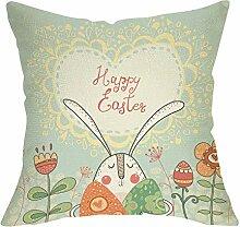 Pycat Osterhase mit Eier und Blumen Happy Ostern