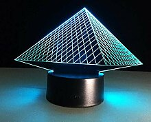 Pyramide 3D Illusionslampe LED Nachtlicht, LED