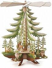 Pyramide mit geschnitzte Rehe coloriert - 34cm -