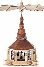 Pyramide mit Seiffener Kirche und Kurrende