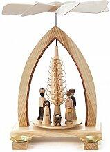 Pyramide mit Spanbaum und Christi Geburt für