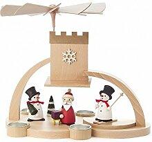 Pyramide mit Weihnachts- und Schneemann ohne