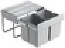 Pyramis Einbau-Abfallsammler SHORT 2-fach 038002801