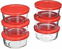 Pyrex Aufbewahrungsset für 2 Tassen aus Glas mit