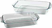 Pyrex Basics transparenten, länglichen Glas