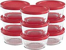 Pyrex Lebensmittelbehälter aus Glas mit Deckel