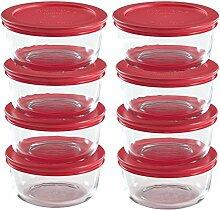 Pyrex Vorratsdosen aus Glas für 2 Tassen mit
