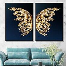 PYROJEWEL Abstrakte Blaue Schmetterlingsflügel