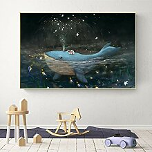 PYROJEWEL Leinwand Malerei abstrakt schlafend Baby