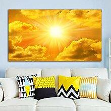 PYROJEWEL Leinwand Malerei Himmel Wolken Sonne