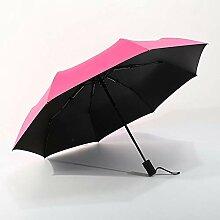 PZXY Regenschirm Automatische Sonnenschirm schwarz