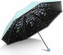 PZXY Regenschirm Klappbare schwarz Gel Sonnencreme