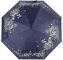 PZXY Regenschirm Schwarz Gel klar Sonnenschirm