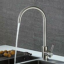 PZXY Wasserhahn Edelstahl Wasserhahn waschen