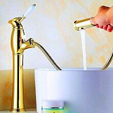 PZXY Wasserhahn Voll Kupfer ziehen Wasserhahn