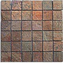 Q-005 Quarzit Naturstein Mosaik Wandfliesen