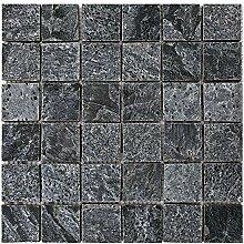 Q-007 Silver Grey Quarzit Naturstein Mosaik Wand