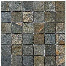 Q-008 Quarzit Naturstein Mosaik Wand Bodenfliesen