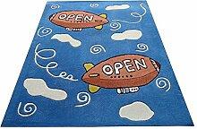 Q Dicker und schwerer rechteckiger Teppich, blau - Vogel Muster Teppiche / Matte für Schlafzimmer Computer Stuhl Arbeitszimmer Kindergarten Wohnzimmer Nachttisch ( größe : 140*200cm )