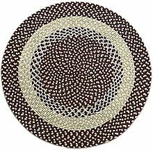 Q Einfache Brown Handgewebte Runde Teppiche / Matten für Couchtisch Schlafzimmer Wohnzimmer Nacht Computer Stuhl Yoga Fitness Verwendung ( größe : 100cm )