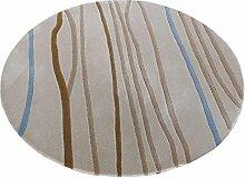 Q Einfache Geometrische Gitter Runde Teppich Wohnzimmer Couchtisch Sofa Restaurant Schreibtisch Teppiche Computer Stuhl Matten ( größe : 80cm )