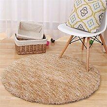 Q Einfache moderne Haus Runde Teppich Wohnzimmer Kaffeetisch Schlafzimmer Teppiche Computer Stuhl Matten ( Farbe : #5 , größe : 140cm )