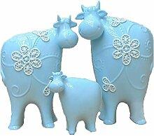 q HuanLeBao Drei Schöne Haus Kühe Handwerk Heimtextilien Keramik Handwerk Modernen Minimalistischen Startseite , Blue