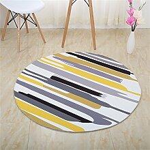 Q Non-Slip-Bereich Teppich Schlafzimmer Wohnzimmer Couchtisch Bedside Teppiche Thick Computer Stuhl Matten ( Farbe : #3 , größe : 120cm )