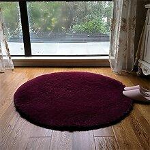 Q Stylish Round Teppich Schlafzimmer Bedside Yoga Wohnzimmer Couchtisch Teppiche Computer Stuhl Matten ( Farbe : #4 , größe : 100cm )