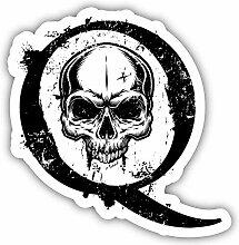 Qanon Skull Punisher Trump Grunge - Self-Adhesive