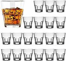QAPPDA Schnapsgläser-Set, Whiskeygläser, schwere