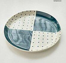 QAQ Nordic minimalistische kreative Keramik Teller