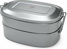qarapara Edelstahl Lunchbox/Brotdose mit 2 Ebenen